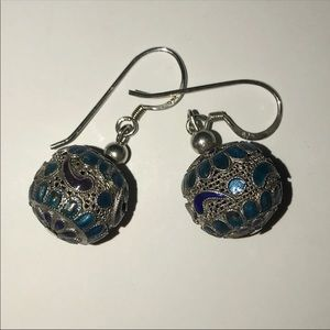 Chinese Export Cloisonne Earrings